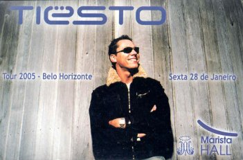 Flyer do show do DJ Tiesto